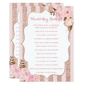 2 Rose Gold and Pink Bridal Shower Games