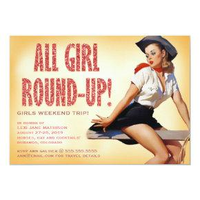 311 All Girl Round-up Cowgirl Pinup Girl Sparkle