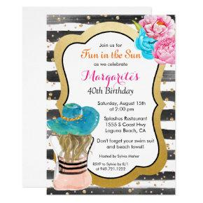 ANY EVENT - Watercolor Stripe Floral