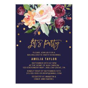 Autumn Floral with Wreath Backing Let's Party