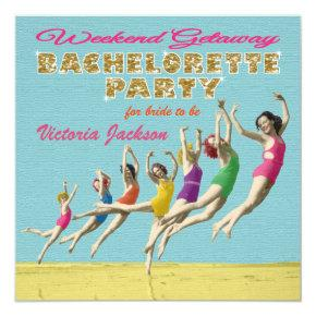 Bachelorette Weekend Getaway Party Invitation