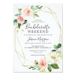Weekend Invite Itinerary Airy Blush