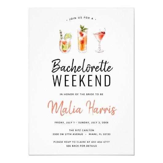 Weekend Itinerary Cocktail Drinks