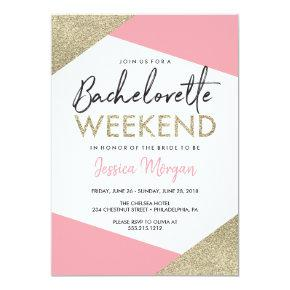 Weekend Itinerary Pink and Gold