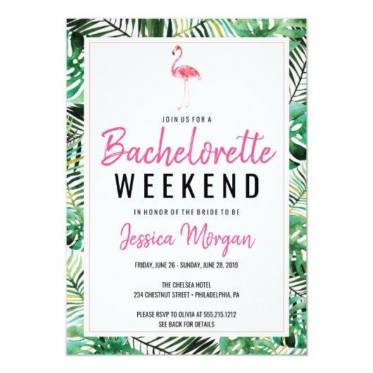 Weekend Itinerary Tropical Flamingo