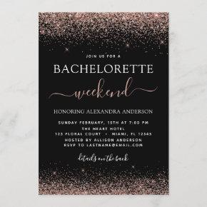 Weekend Pink Rose Gold Glitter Party