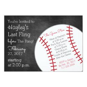 Baseball Bachelorette Party Invite- Last Swing Invitation