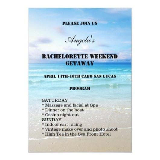 Beach Weekend Template Bachelorette Party Invitations