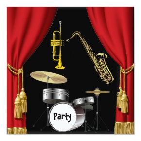 Birthday Party Music Dance Curtains