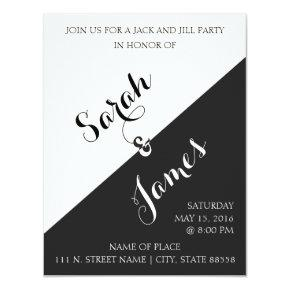 Black and White | Jack & Jill Party Invite