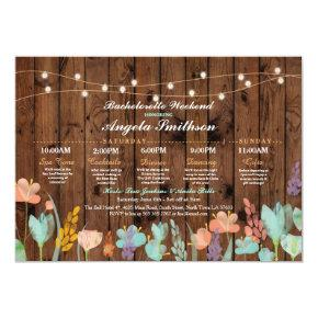 Bridal Shower Party Floral Itinerary