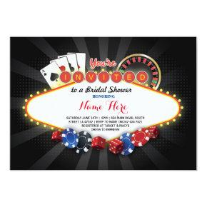 Casino Bridal Shower Night Las Vegas Party Invite