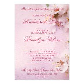 Cherry Blossom Elegant Bachelorette Party Invites