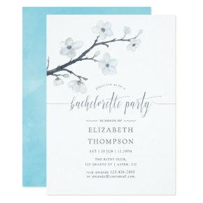 Cherry Blossoms Floral Bachelorette Party Invite