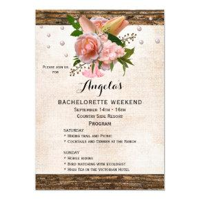 Chic Country  Weekend Program Invite