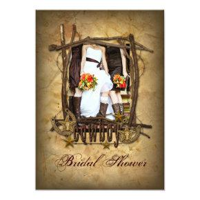 Country Western Pin Up Girl Cowboy bridal shower
