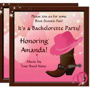 Cowgirl  Custom Invite