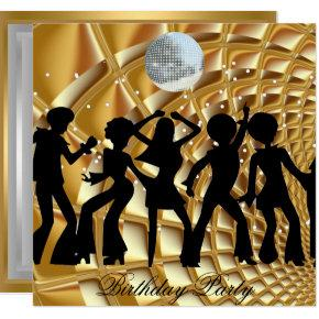 Dance Disco Birthday Party Gold