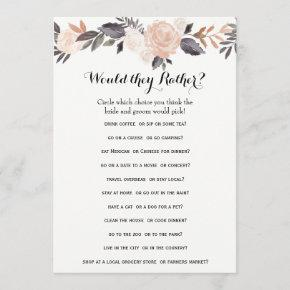 Double Side Bridal Shower Games- Groom Say| Rather