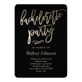 EDITABLE COLOR Bachelorette Party BRUSHED GLIMMER Invitation