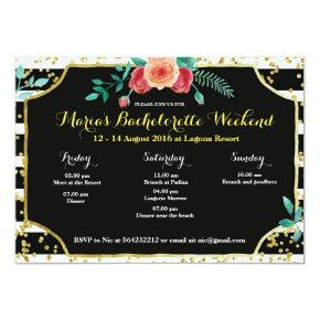 Elegant Bachelorette Party Itinerary Invitation