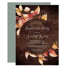 Fall Leaves | Rustic Brown Wood