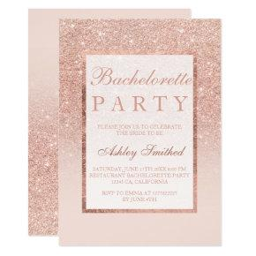 Faux rose gold glitter elegant chic
