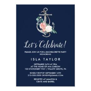 Floral Anchor | Navy Summer Let's Celebrate