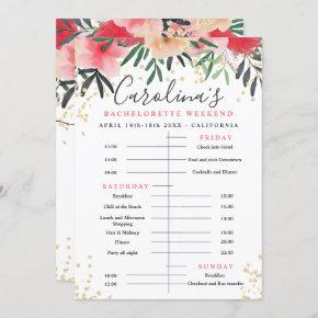Floral gold glitter time line  weekend