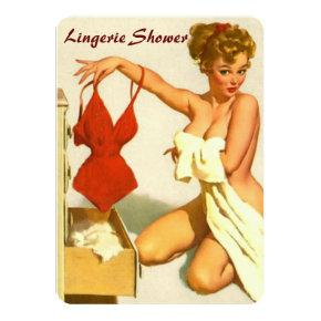 Funny retro pin up lingerie shower