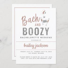 GENNA | Bach and Boozy  Itinerary