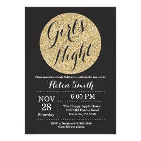 Girls Night Out Black and Gold Glitter