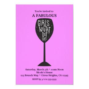 GIRLS NIGHT OUT Wine Glass ANY COLOR Party