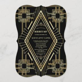 Glam Gold Black Great Gatsby