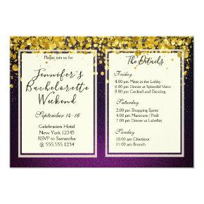 Gold and Purple  Weekend Party
