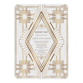 Gold and White Great Gatsby
