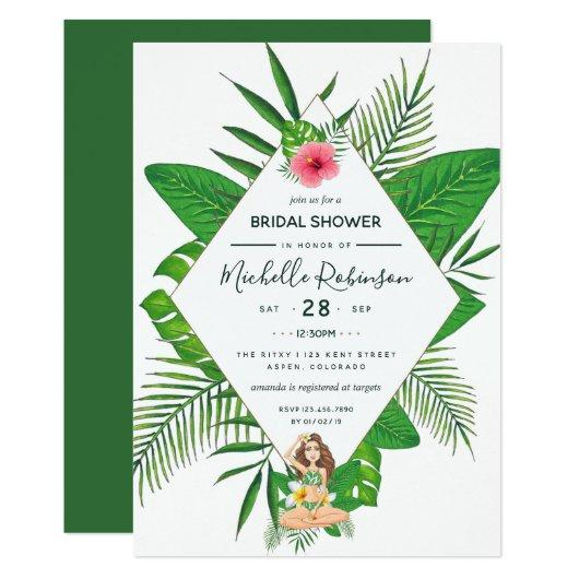 Hawaiian aloha luau bridal shower bachelorette party invitations hawaiian aloha luau bridal shower filmwisefo
