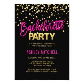 HOT Pink Bachelorette Party Invitation Templates