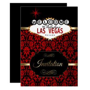 Las Vegas in Red Damask | Party