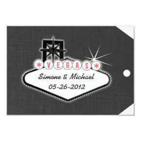 Las Vegas Save the Date Luggage Tag
