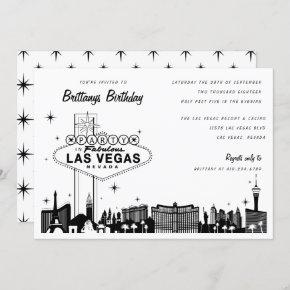 Las Vegas Skyline Birthday Party or Special Event