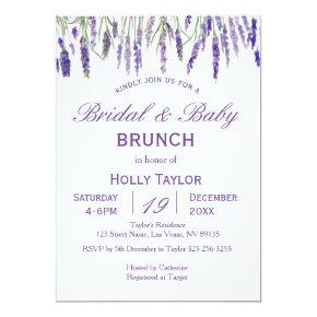 Lavender Combined Baby Shower and Bridal Shower