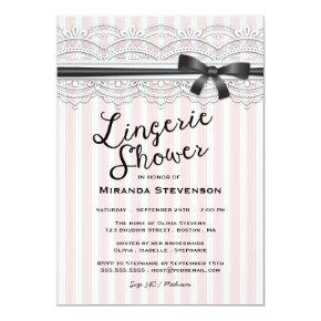 Lingerie Shower Chic Lace Garter Party