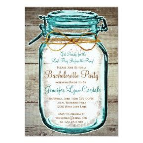 Mason Jar Rustic Wood  Invites