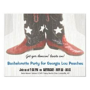Merica Girl Red White Blue Boots Bachelorette