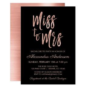 Miss to Mrs Pink Rose Gold