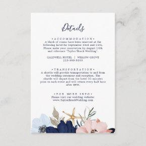 Modern Nautical | Floral Wedding Details Enclosure