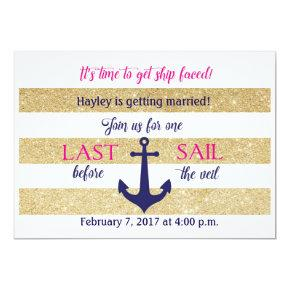 Nautical  Invite- Last Sail