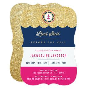 Nautical Glam Chic Shine  Invite