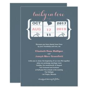 Pink and Gray Slot Machine Wedding